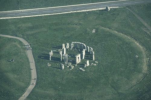 vista aerea del reloj antiguo stonehenge