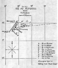 student essay this is a map of the position of the ice around the titanic