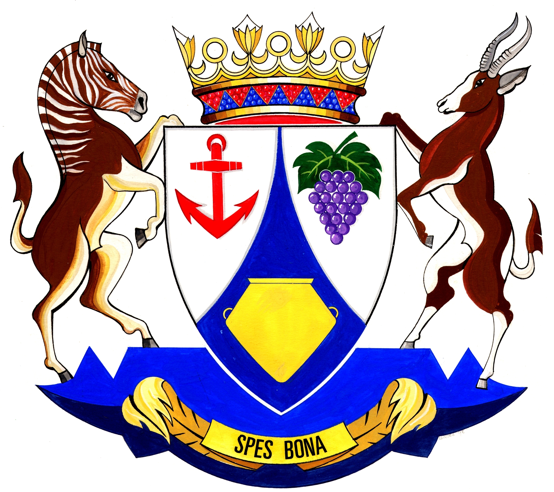 Historical flags of our ancestors south african provincial coat of scan by bruce berry western cape province coat of arms biocorpaavc Images